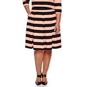 Ashley Nell Tipton for Boutique+ Box Pleat Skirt - Plus