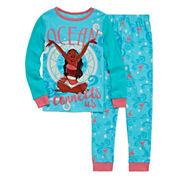 Disney Collection 2-pc. Moana Cotton Pajamas Set