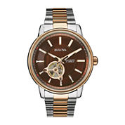 Bulova® Mens Two-Tone Stainless Steel Automatic Watch 98A140