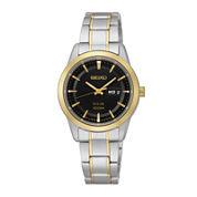 Seiko® Womens Two-Tone Stainless Steel Solar Bracelet Watch SUT166