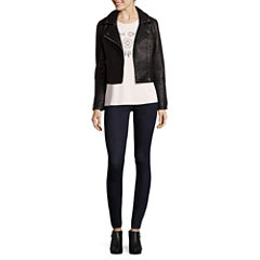 BELLE + SKY™ Faux-Leather Moto Jacket, Twist Screen Tee or Zipper Skinny Jeans