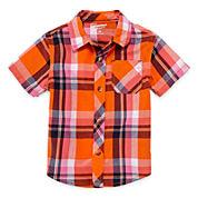 Arizona Short-Sleeve Plaid Woven Cotton Shirt - Baby Boys 3m-24m