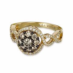 Grand Sample Sale™ by Le Vian® 3/4 CT. T.W. Vanilla Diamonds® & Chocolate Diamonds® in 14k Honey Gold™ Chocolatier® Ring