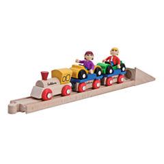 Eichhorn - 10 Piece Wooden Car Shuttle Train Set