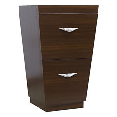 American Imaginations Vee V-Shape Floor Mount 20.25-in. W x 18-in. D Modern Plywood-Melamine VanityBase Only In Wenge