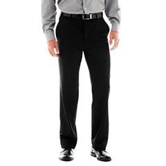 JF J. Ferrar® Stretch Gabardine Flat-Front Suit Pants - Super Slim