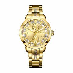 JBW Women's Lumen 0.06 ctw Diamond 18k gold-plated stainless-steel Watch J6341F