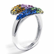 Sparkle Allure Womens Crystal Silver Over Brass