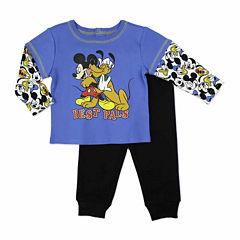 Disney Boys Mickey Mouse Pant Set NB-24M