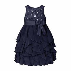 American Princess Sleeveless Empire Waist Dress - Girls 7-16 and Plus