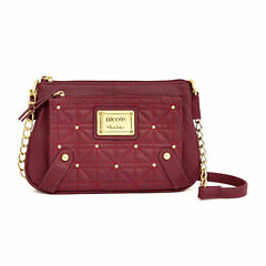 Nicole By Nicole Miller Suzie Quilted Studded Mini Crossbody Wallet