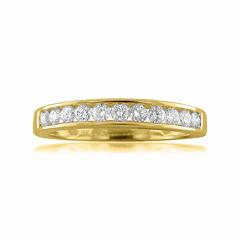 Womens 1/2 CT. T.W. White Diamond 18K Gold Wedding Band