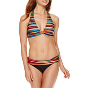 a.n.a® Striped Ombre Halter Swim Top or Foldover Hipster Swim Bottoms