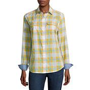 St. John's Bay® 2-Pocket Classic Shirt, 3/4-Sleeve V-Neck Tee or Straight Leg Jeans