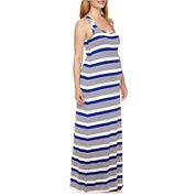 Maternity Sleeveless Knit Maxi Dress