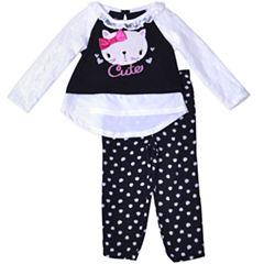 Nanette Baby 2-pc. Pattern Pant Set Girls