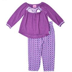 Nanette Baby 2-pc. Pant Set Girls