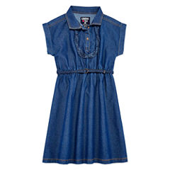 Limited Too Short Sleeve Shirt Dress - Big Kid Girls