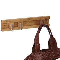 Household Essentials® Sliding 3-Hook Wall Coat Rack