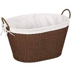 Household Essentials® Paper Rope Wicker Laundry Basket
