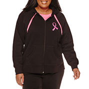Made for Life™ Breast Cancer Zip-Up Hoodie - Plus