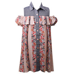 Bonnie Jean Short Sleeve Cap Sleeve Party Dress - Big Kid Girls