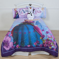 Disney Frozen Celebrate Love Microfiber Reversible Comforter & Accessories