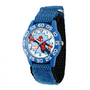 Marvel® Spider-Man® Kids Time Teacher Blue Nylon Strap Watch