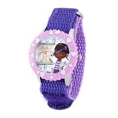 Disney Doc McStuffins Kids Time Teacher Purple Nylon Strap Watch
