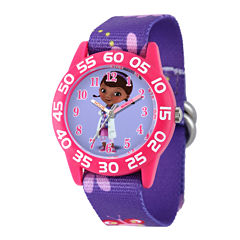 Disney Doc McStuffins Kids Time Teacher Purple Nylon Strap Watch
