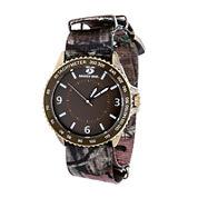 Mossy Oak Mens Brown Bracelet Watch-Mow086ox-Br