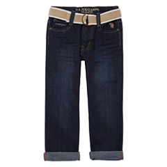 U.S. Polo Assn. Relaxed Fit Jeans-Boys
