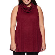 a.n.a® Sleeveless Cowlneck Tunic - Plus