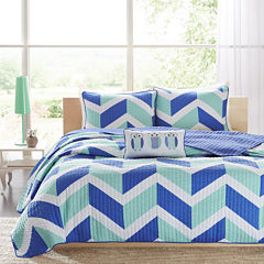 Mi Zone Julie Chevron Coverlet Set
