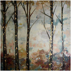 Midnight Woods Embellished Canvas Wall Art