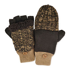 MUK LUKS® Cable Knit Fingerless Flip Top Gloves