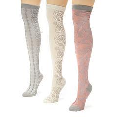 MUK LUKS® Womens 3-pk. Microfiber Over-the-Knee Socks
