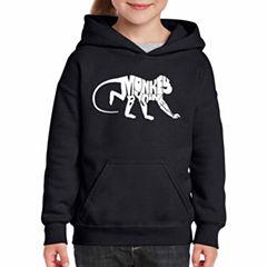 Los Angeles Pop Art Monkey Business Long Sleeve Sweatshirt Girls