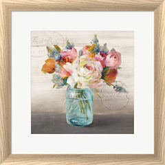 French Cottage Bouquet II Framed Wall Art