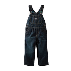 OshKosh B'gosh® Flannel-Lined Denim Overalls - Boys 2t-4t
