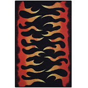 Flames Rectangular Rug