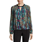 nicole by Nicole Miller® Long-Sleeve Keyhole Top