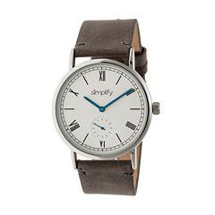 Simplify Mens Gray Strap Watch-Sim5103