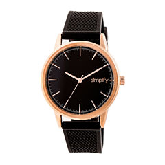 Simplify Mens Black Strap Watch-Sim5204