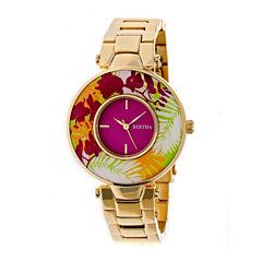 Bertha Womens Gold Tone Bracelet Watch-Bthbr6602