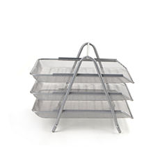 Mind Reader 3 Tier Steel Mesh Paper Tray Desk Organizer