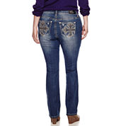 Love Indigo Bling Bootcut Jeans - Plus