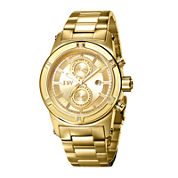 JBW Strider Mens Diamond-Accent Gold-Tone Stainless Steel Watch J6263E