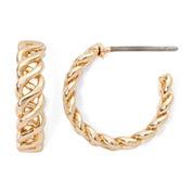 Monet® Gold-Tone Small Helix Hoop Earrings