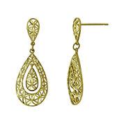 Majestique™ 18K Yellow Gold Filigree Pear Earrings
